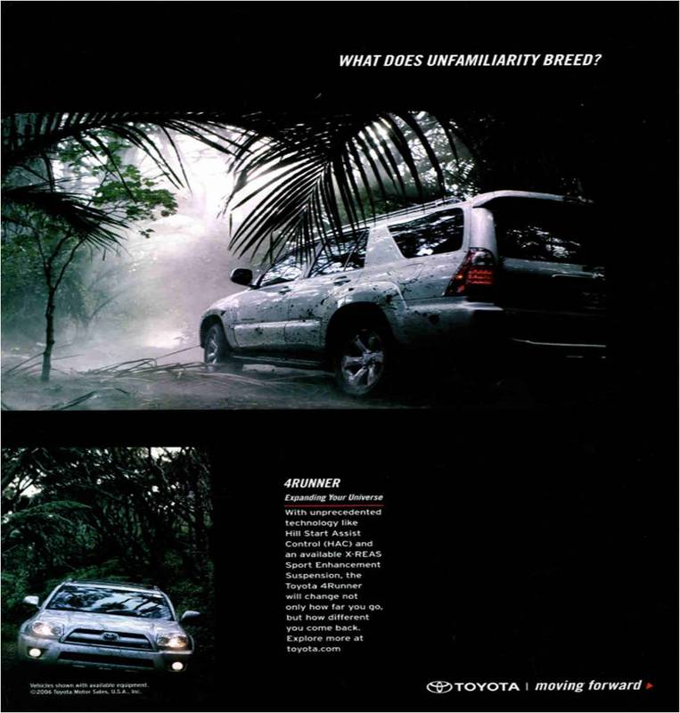 Toyota 4runner 2008 >> Car Ads Published in National Geographic Magazine (1946-2008) by S. Fraser