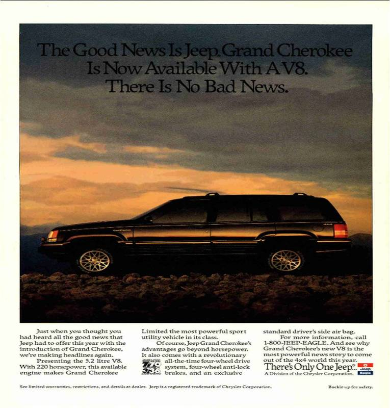 New Jeep Cherokee >> Car Ads Published in National Geographic Magazine (1946 ...
