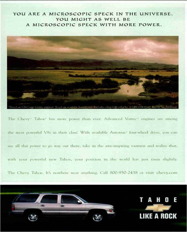 New Chevy Tahoe >> Car Ads Published in National Geographic Magazine (1946-2008) by S. Fraser