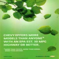 Chevy advertisement in October 2008 National Geographic magazine